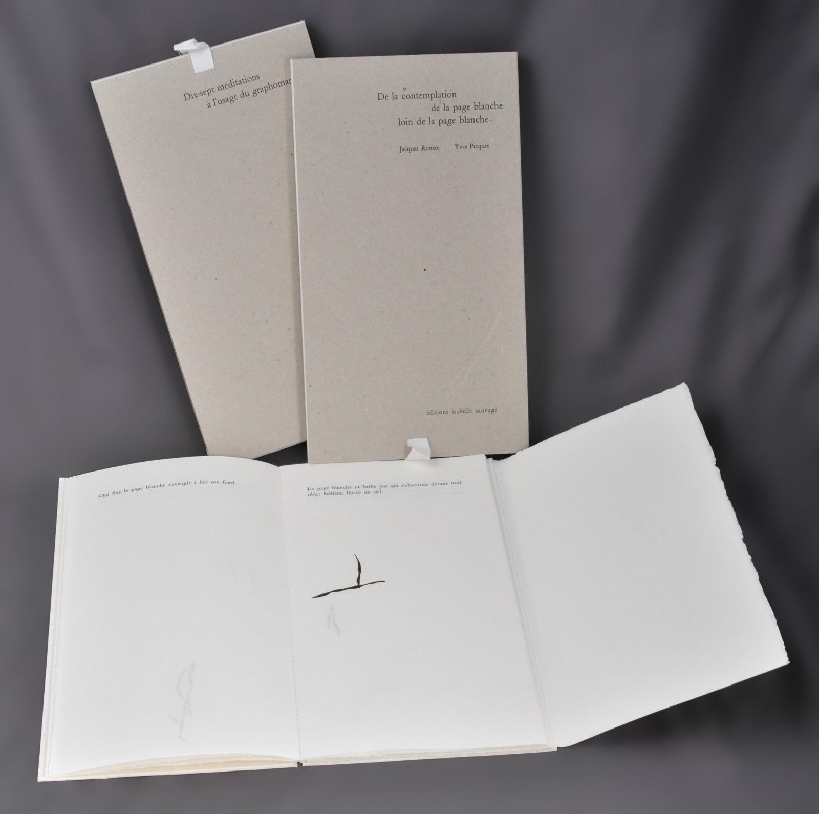 De la contemplation de la page blanche loin de la page blanche ou Dix-sept méditations à l'usage du graphomane | Roman, Jacques (1948-....). Auteur