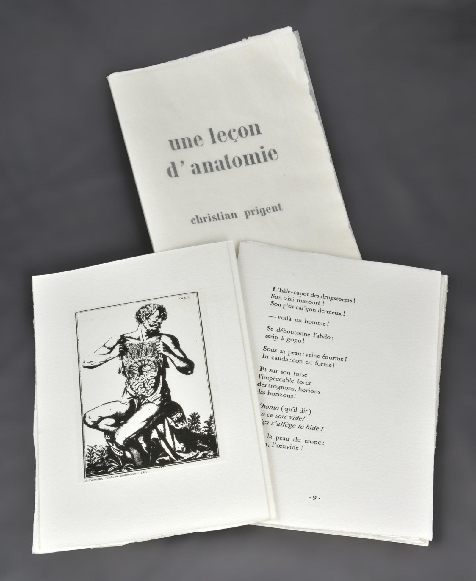 Une Leçon d'anatomie | Prigent, Christian (1945-....). Auteur